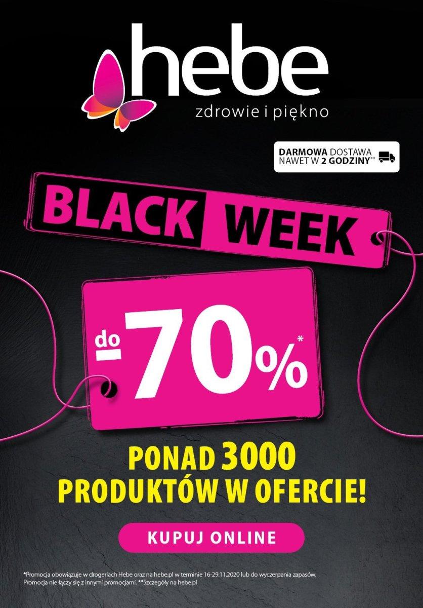 Gazetka Hebe - Black Week -70%